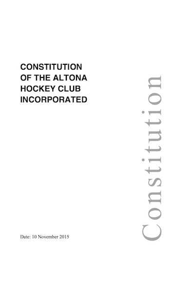 Constitution of the Altona Hockey Club, Inc.